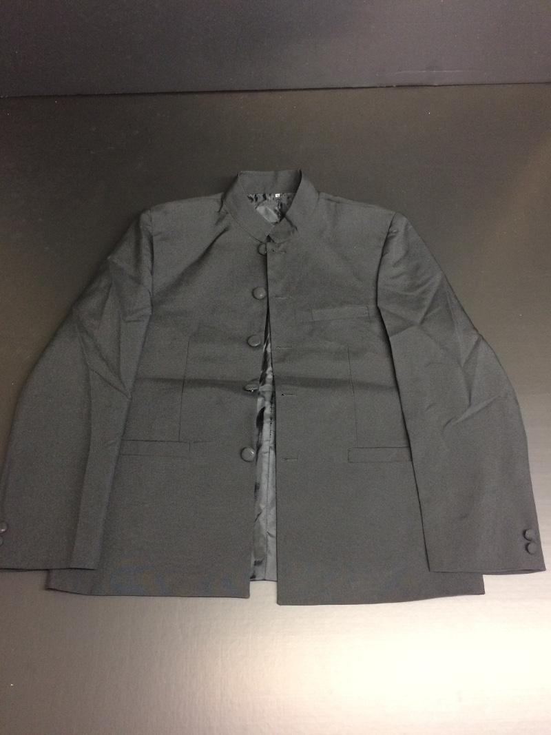 veste costume noire col mao