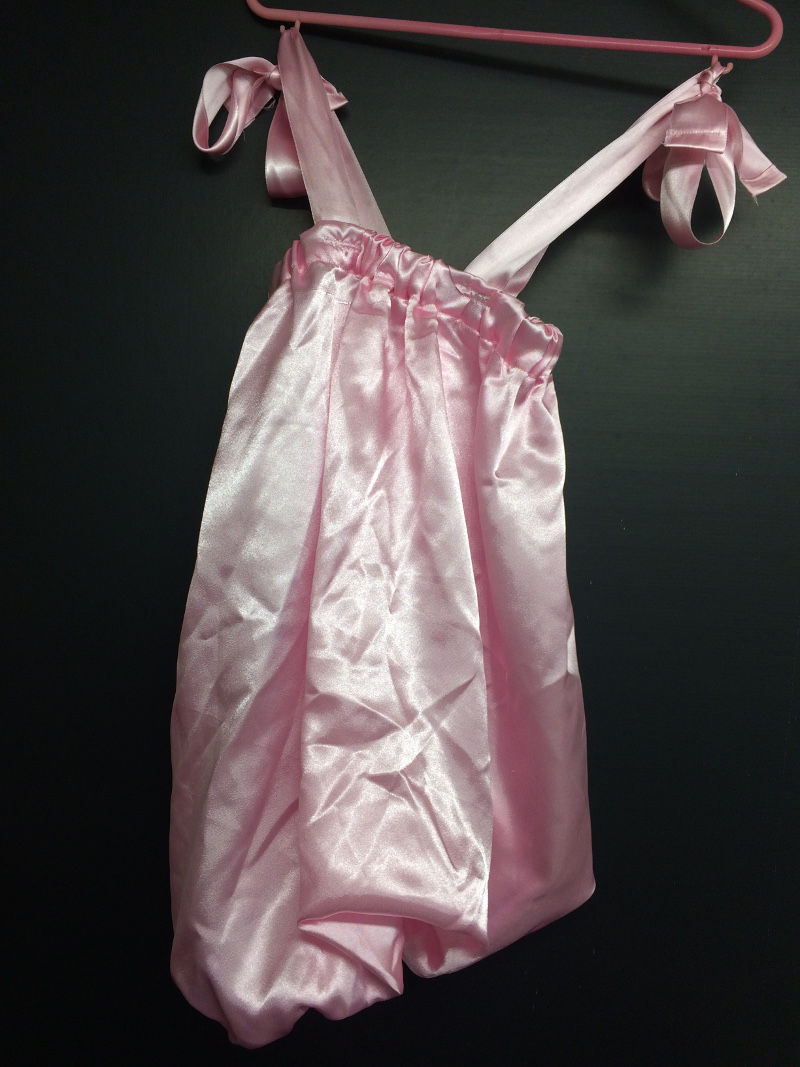 Robe satin rose (11)