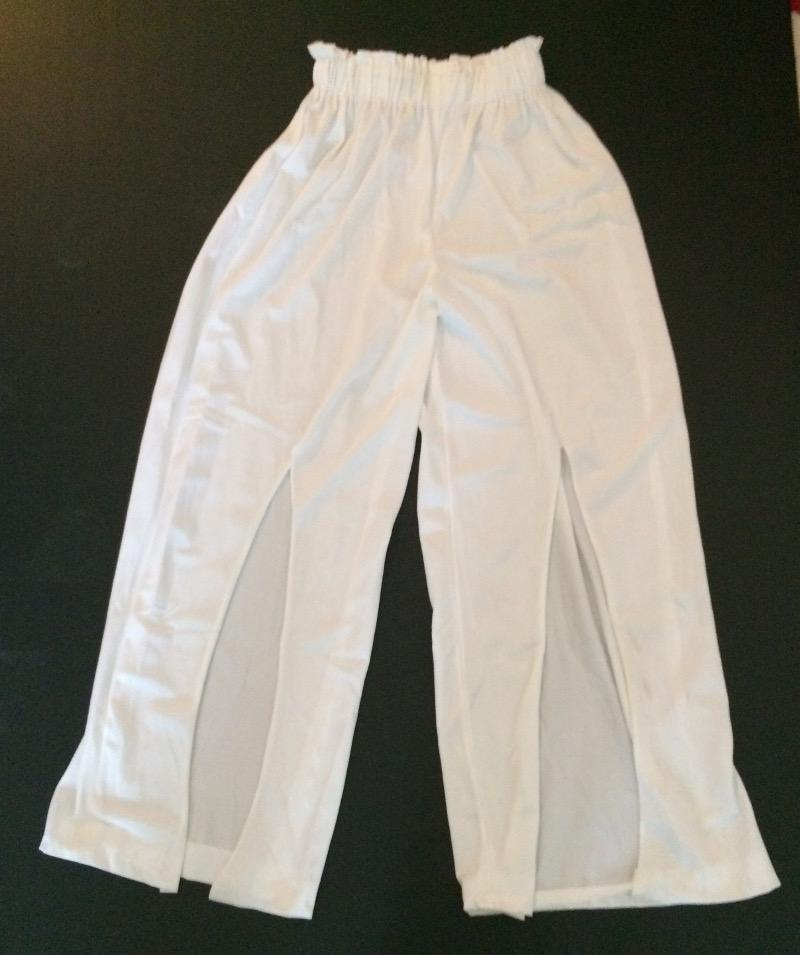 pantalon blanc fluide