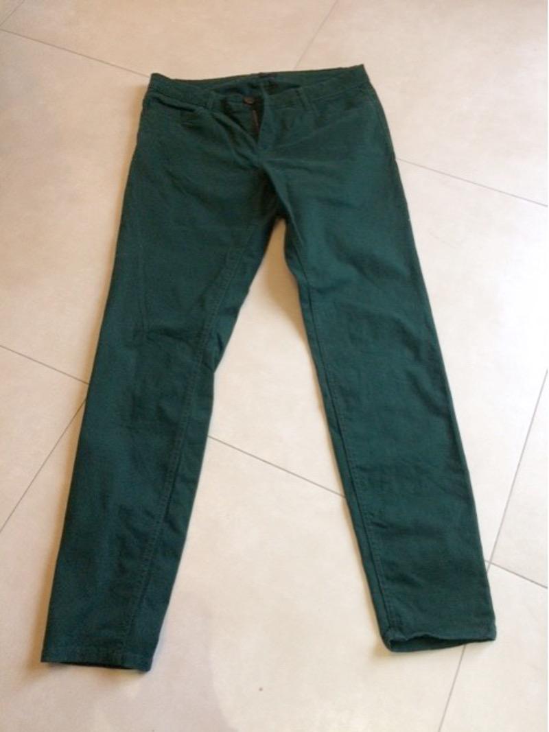 pantalon SLIM vert foncé