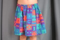 short à motif bleus orange et verts (6)