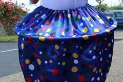 jupe cupcake bleu